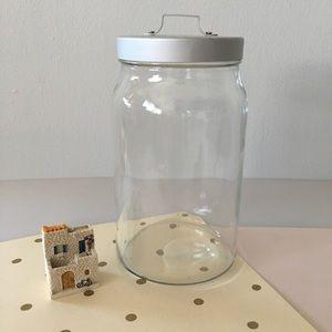 {IKEA}  Glass Jar with Metal Lid